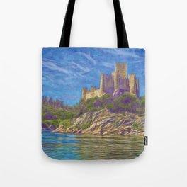 Almourol, Knights Templar fort Tote Bag