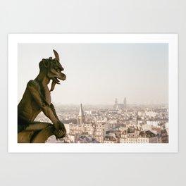 Paris Gargoyle - 35mm film Art Print