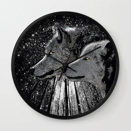 WOLF ENCOUNTER #2 Wall Clock