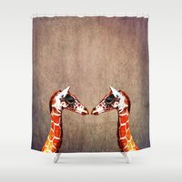 twins Shower Curtains featuring twins by Steffi Louis