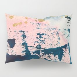 Candyland: a vibrant, colorful abstract piece in blue teal pink and gold by Alyssa Hamilton Art Pillow Sham