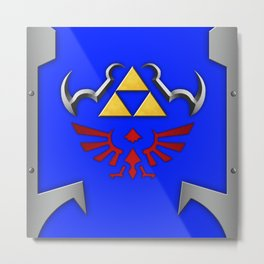 Zelda Shield Metal Print