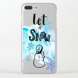Let it Snow Clear iPhone Case