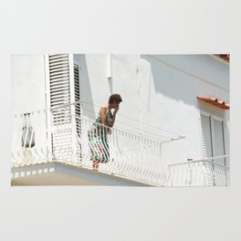 Lady on Balcony Rug