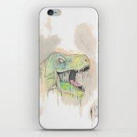 t rex iPhone & iPod Skins featuring T-Rex by BijanSouri