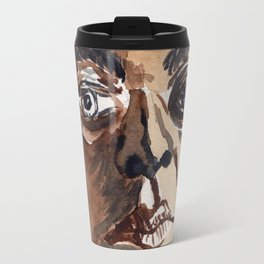 Man with glasses Travel Mug