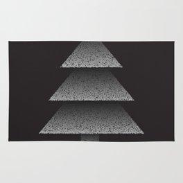 Grey Christmas Tree Rug
