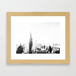 Steam - Fog over New York City Framed Art Print