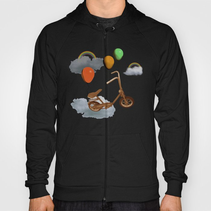 in my world, we bike from cloud to cloud ! Hoody