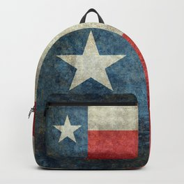 Texas flag, Retro distressed texture Backpack