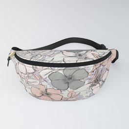 Flower vintage design with wild roses in english style Fanny Pack