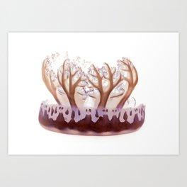 upside down jelly fish Art Print