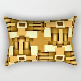 Gold Beige Pipe System,Streampunk Rectangular Pillow