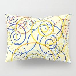psychedelic Art 03 yellow Pillow Sham