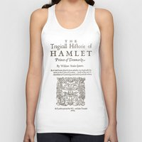 hamlet Tank Tops featuring Shakespeare, Hamlet 1603 by BiblioTee