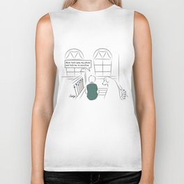 Get Off Your Phone and Socialize Biker Tank