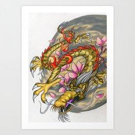 Warp Dragon Art Print
