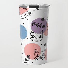 Kitty Faces Travel Mug