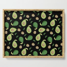 Avocado gen z fashion apparel food fight gifts black Serving Tray