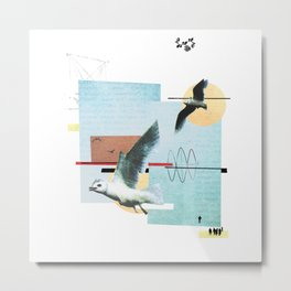 """Seagull"" collage Metal Print"