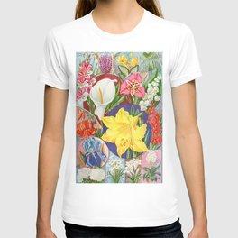 VINTAGE FLOWERS ILLUSTRATION T-shirt
