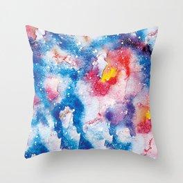 cosmic aquarelle pattern Throw Pillow
