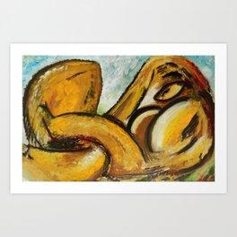Nudo sdraiato Art Print