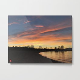 Sunset in Jerico Metal Print