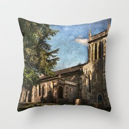 St Nicholas Church Sulham Throw Pillow