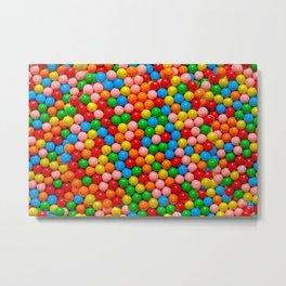 Mini Gumball Candy Photo Pattern Metal Print