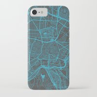 real madrid iPhone & iPod Cases featuring Madrid by Map Map Maps