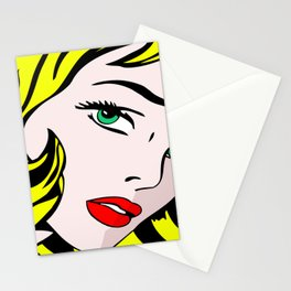 Green-Eyed Blonde Stationery Cards