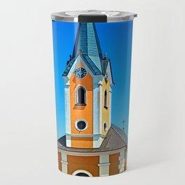 The village church of Alberndorf in der Riedmark Travel Mug