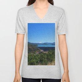 Shasta Lake View Unisex V-Neck