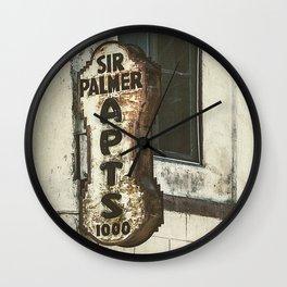 Sir Palmer Apts. Vintage Sign, Echo Park Wall Clock