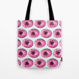 girly cute mint pink donut pattern Tote Bag