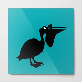 Angry Animals: Pelican Metal Print