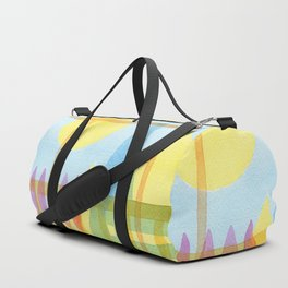 From the inside out -watercolor landscape Duffle Bag