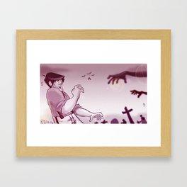 Nightmare of the Living Dead Framed Art Print