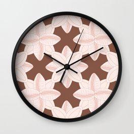 Coffee Bean Trivia Pattern Wall Clock