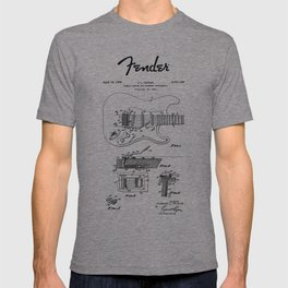Guitar Tremolo Patent Black T-shirt