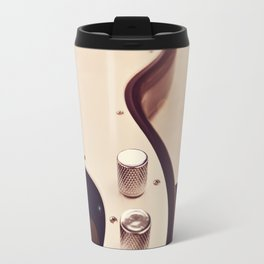 Black and white Bass guitar. Travel Mug