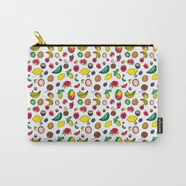 Tuti Fruti Quirky Tropical Fruit Pattern Carry-All Pouch