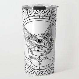 Celtic Siamese Cat Travel Mug