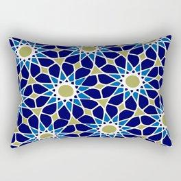 Blue & Green Mosaic Pattern Rectangular Pillow