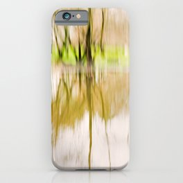 Wood Light Painting - Reflex in the Water. iPhone Case