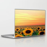 sunflower Laptop & iPad Skins featuring Sunflower by Don't Be A Dick