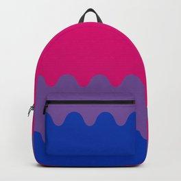 Wavy Bisexual Flag Backpack