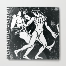 Greek Man & Boy Erotica (detail) Metal Print
