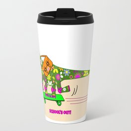 Schools Out for Brenda the Dinosaur Travel Mug